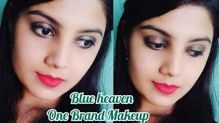 One brand Makeup tutorial| Blue Heaven | Affordable Product | Sweet Lifestyle