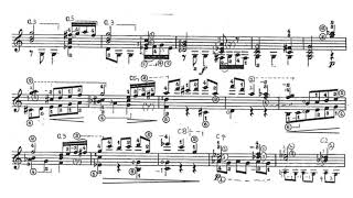Manuel M. Ponce: Sonata Clásica for Guitar (Score video)