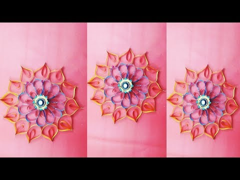 DIY: Paper Flowers with Stapler Pins | Very Easy and Simple Paper Crafts !!!