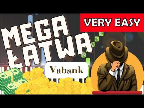 🎹 Vabank (motyw główny, H. Kuźniak) - Piano Tutorial (MEGA ŁATWA wersja) 🎹
