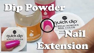 Extending Natural Nails Using Dip Powders - tutorial