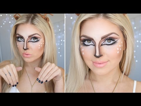 Bambi Deer Tutorial ♡ Pretty Halloween Makeup - YouTube