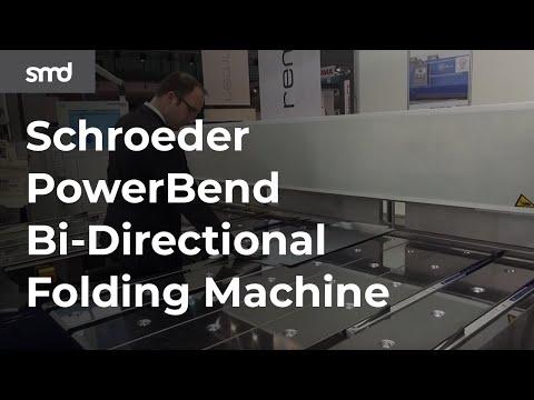 Schroeder PowerBend Bi-directional Folding Machine Rear View