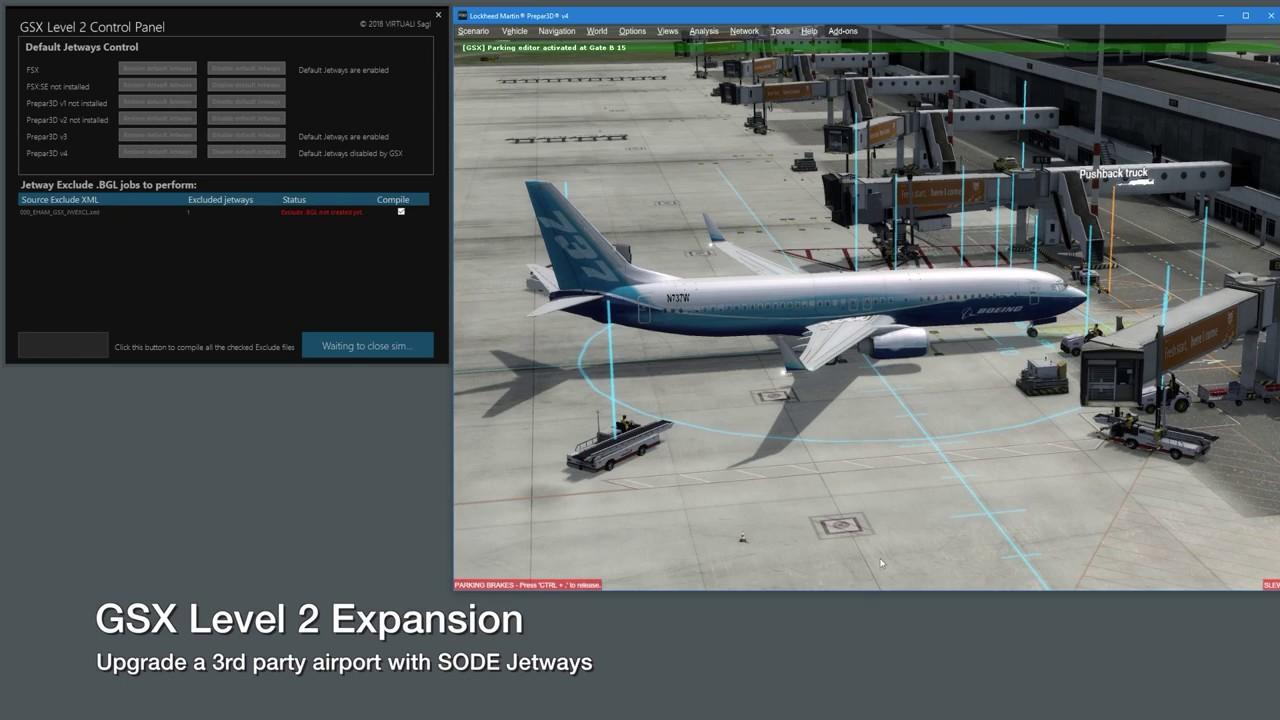 simMarket: FSDREAMTEAM - GSX LEVEL 2 EXPANSION FSX P3D