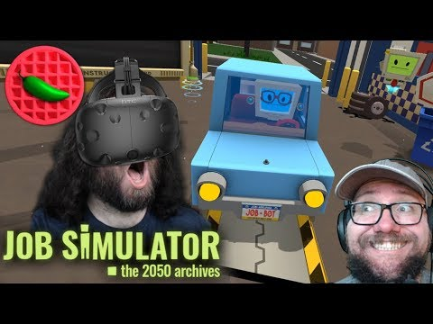 VR AUTO MECHANIC-ING! -- Let's Play Job Simulator (HTC Vive VR Gameplay)