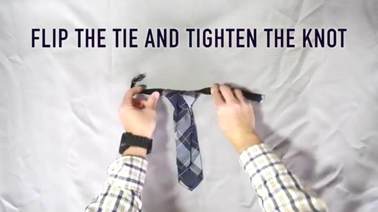 How To Tie A Pretied Children's Necktie The Cambridge School