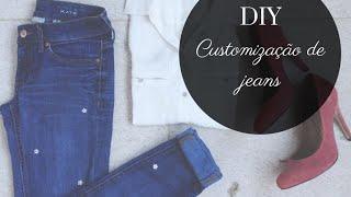 DIY | Customização de jeans