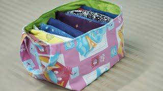 DIY Fabric Basket from Old Clothes - No Cost Wardrobe Organization Idea