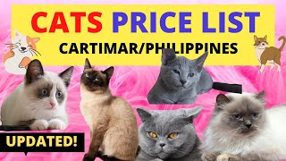 Cat PRICE LIST Philippines | Cartimar Pet Shops (2020)