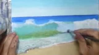 Peindre une vague hyperréaliste
