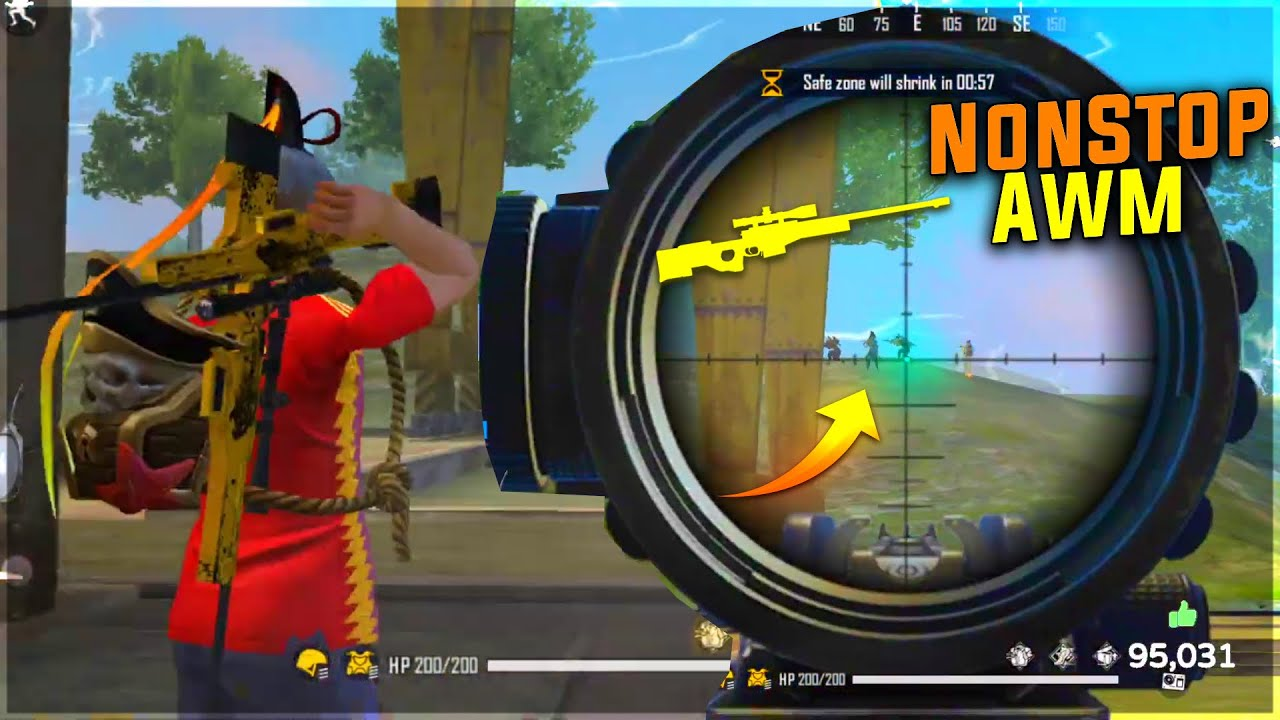 Non Stop For 2 AWM Sultan Fans OverPower Gameplay Squad - Garena Free Fire
