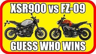 DRAG Race - Yamaha XSR900 vs Yamaha FZ-09
