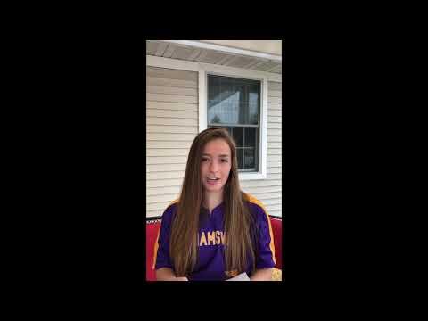 Williamsville High School 2020 Spring Sports Senior Night Spotlight Video: Addison Woods.