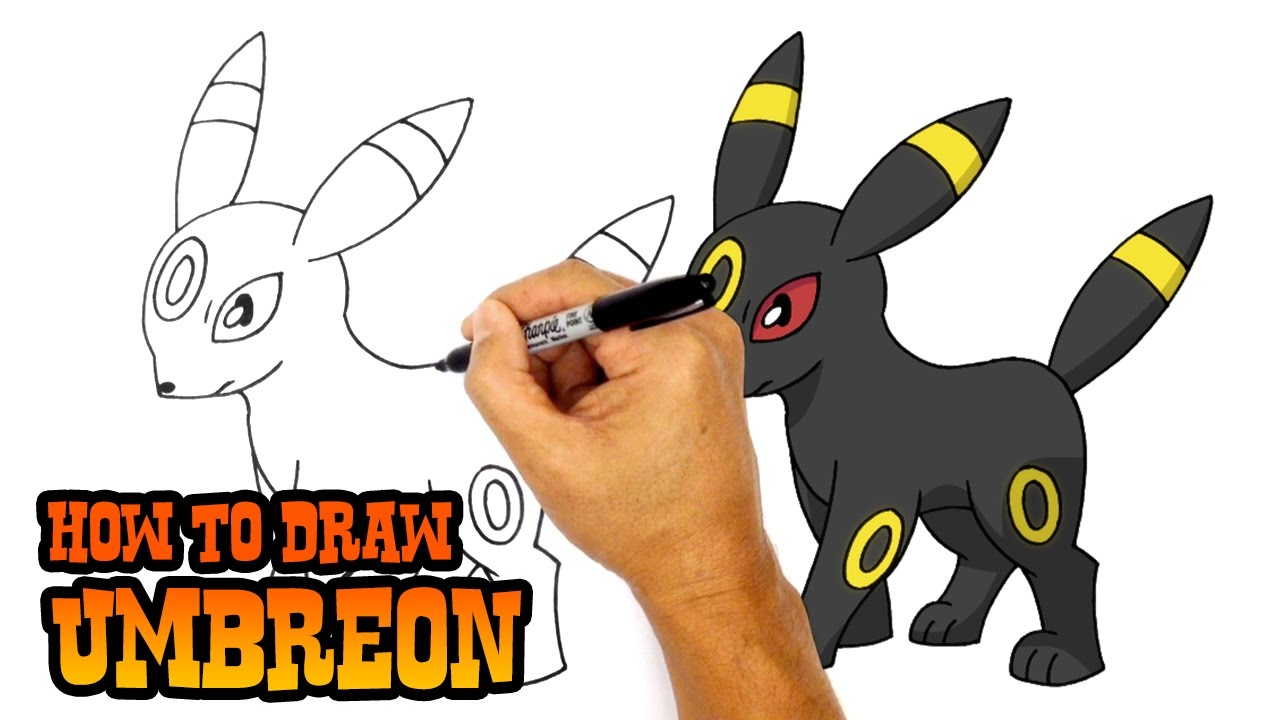 How to draw umbreon pokemon youtube
