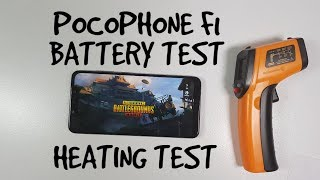 Pocophone F1 Battery test/Drain/Life/Screen on time while gaming PUBG gameplay Heating temps