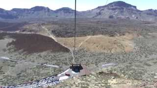 View from the cable car to Mount Teide - Tenerife [Full HD]