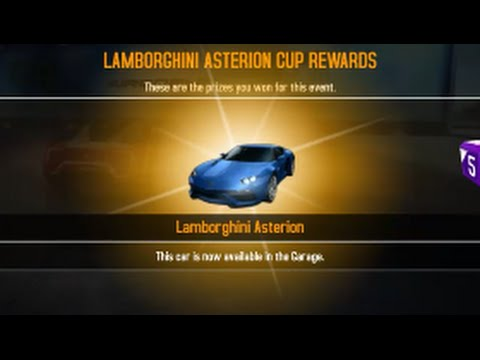 Asphalt 8 Maxing the Lamborghini Asterion - YouTube