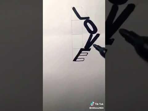 Vẽ chữ LOVE 3D nè