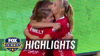 Alex Morgan pulls one back for Portland - 2015 NWSL Highlights