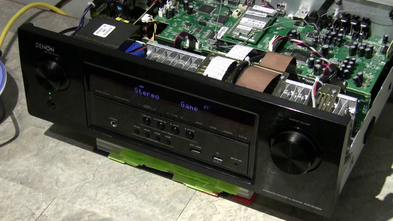 How to fix broken front display on Denon AVR-S700W
