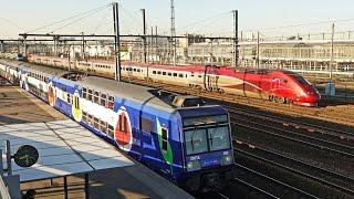 Rail Live 16. Paris Railway. RER D - TGV - Transilien.    Stade de France Station.