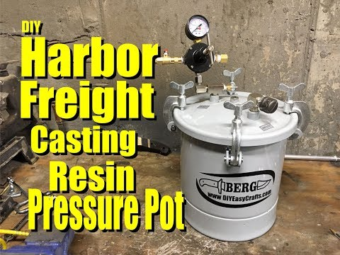 Easy DIY Casting Resin Pressure Pot from a Harbor Freight Paint sprayer