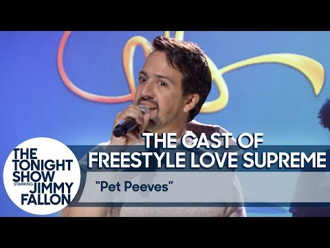 Amy James - Tonight Show: Lin-Manuel Miranda's Freestyle Rap About Open-Plan Offices