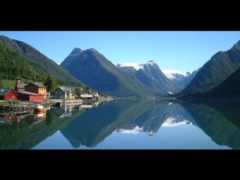 Норвегия красивое видео природа Скандинавии