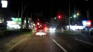 小松市 若杉町→沖町経由→小松駅 夜