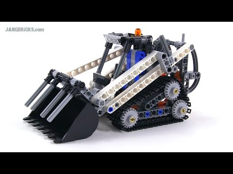 Lego Technic Bobcat >> LEGO Technic Compact Tracked Loader review! set 42032 - YouTube
