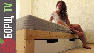 видео Деревянная кровать своими руками