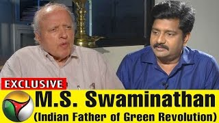 Exclusive Interview With M.S. Swaminathan( Green Revolution Father of India) | 04/05/2017 Puthiya Thalaimurai TV Show