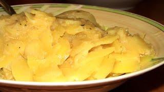 Вкусный картофель в мультиварке тушеный с молоком