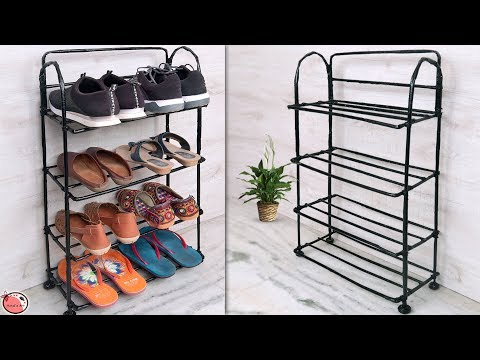 DIY Shoe Rack... Space Saving !!! Best Out of Waste Organization Idea || DIY Shoe Stand