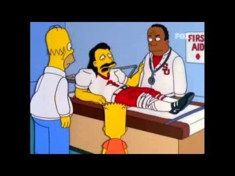 Homero atropella a jugador de fútbol americano