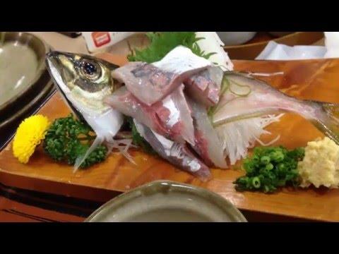 """Live """"horse mackerel"""" SASHIMI in Kanagawa Prefecture"""