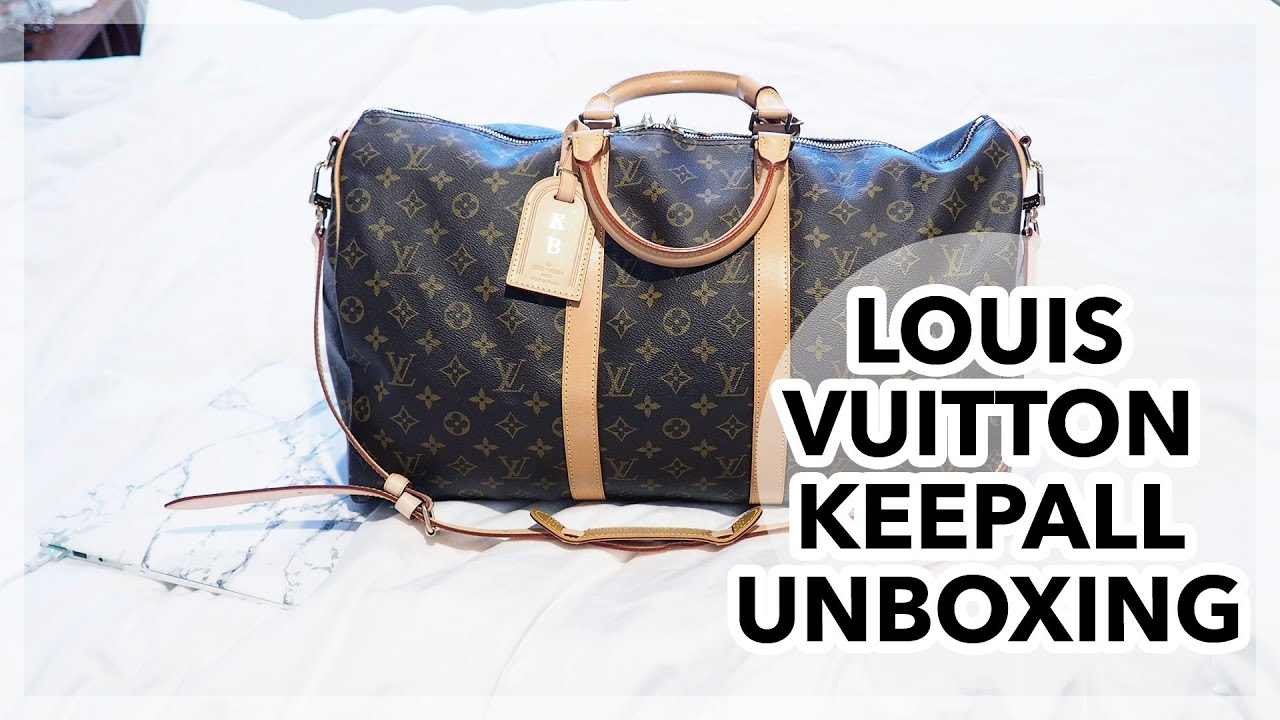 3a343e3c0c63 Louis Vuitton Keepall 50 Unboxing! - With Loop Control - YouTube for ...