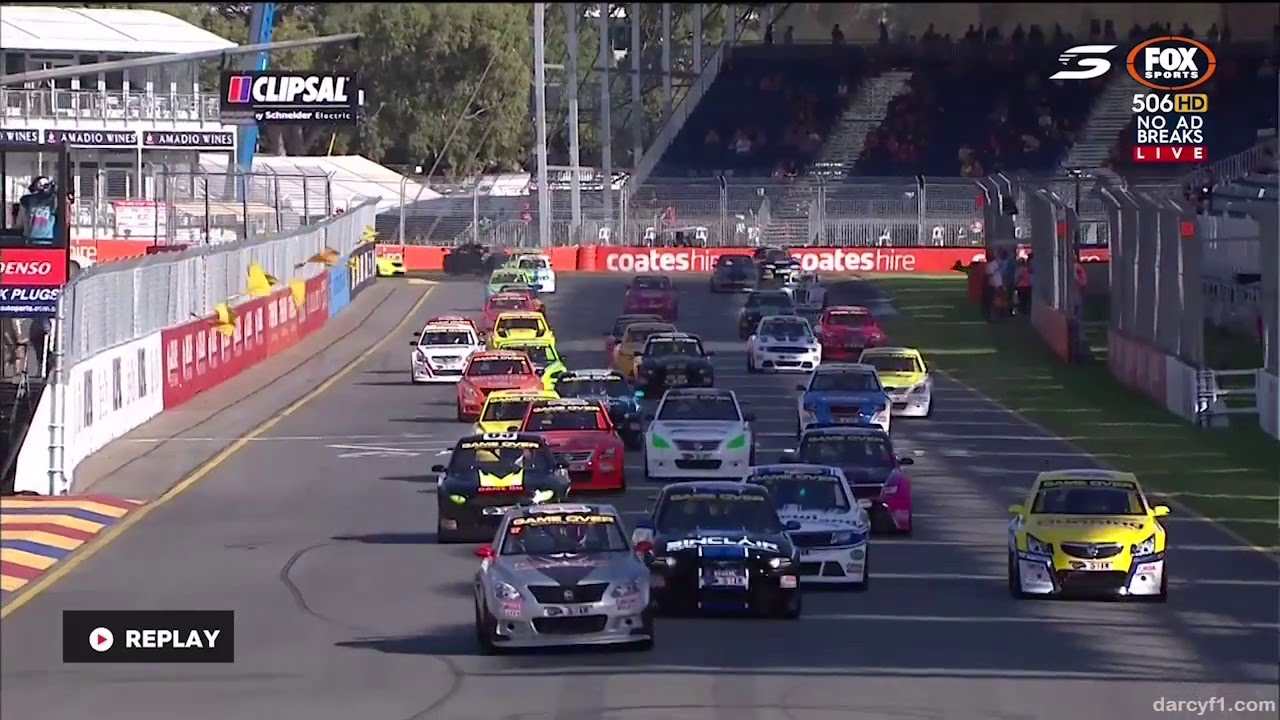 First Lap Chaos Race Aussie Racing Cars Adelaide Youtube