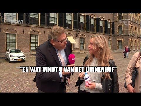 Krol leidt jeugd rond op Binnenhof