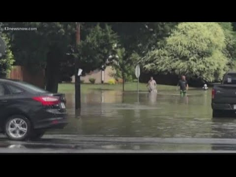 Flooding problems in Virginia Beach