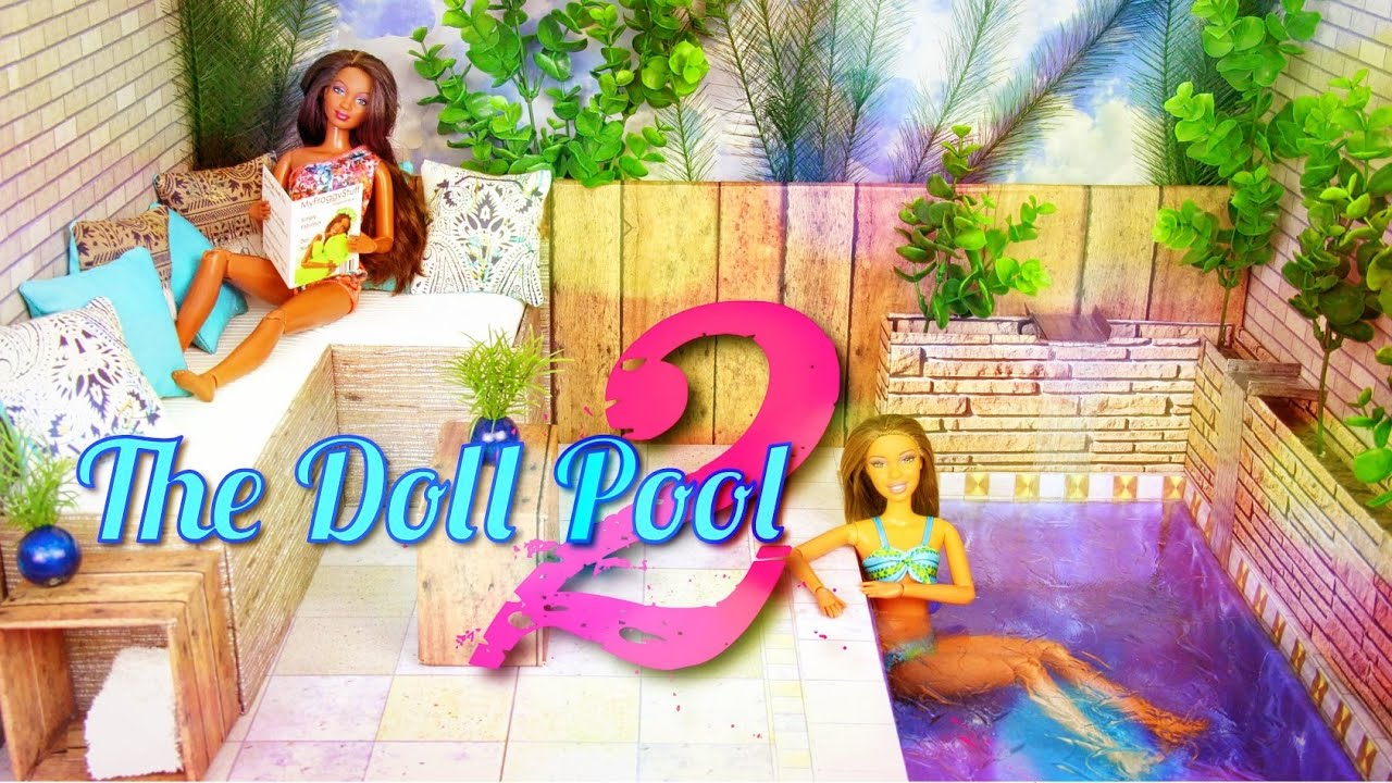 DIY - How to Make: Doll Swimming Pool 2 - Handmade - Doll - Crafts ...