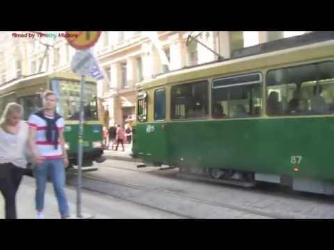 Trams in Helsinki, Finland - Summer 2014