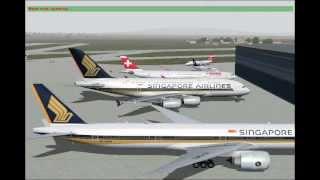 Singapore Airlines Flight 346 SIN-ZRH (FS2004)