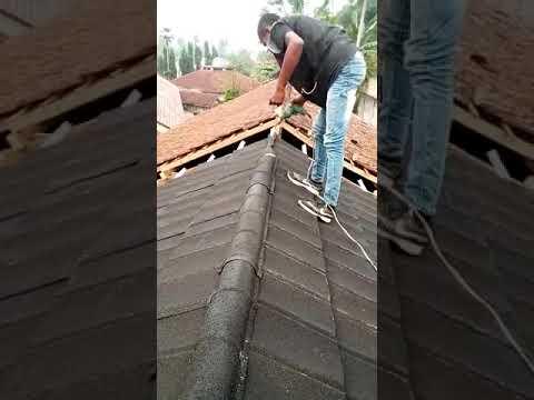 nok atap baja ringan cara memasang yg cepat youtube