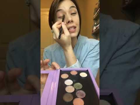 Pressed Eyeshadow Palette using Savvy Minerals Makeup