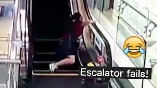 Escalator Fails - Try Not to Laugh!