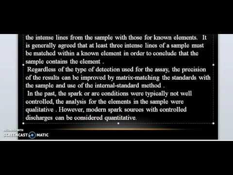 part 41 Arc - Spark Atomic Emission Spectrometry by Prof. Ibrahim Zamil Alzamil