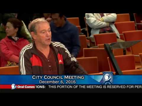 Cupertino City Council Meeting Dec 6, 2016 - Oral Communication