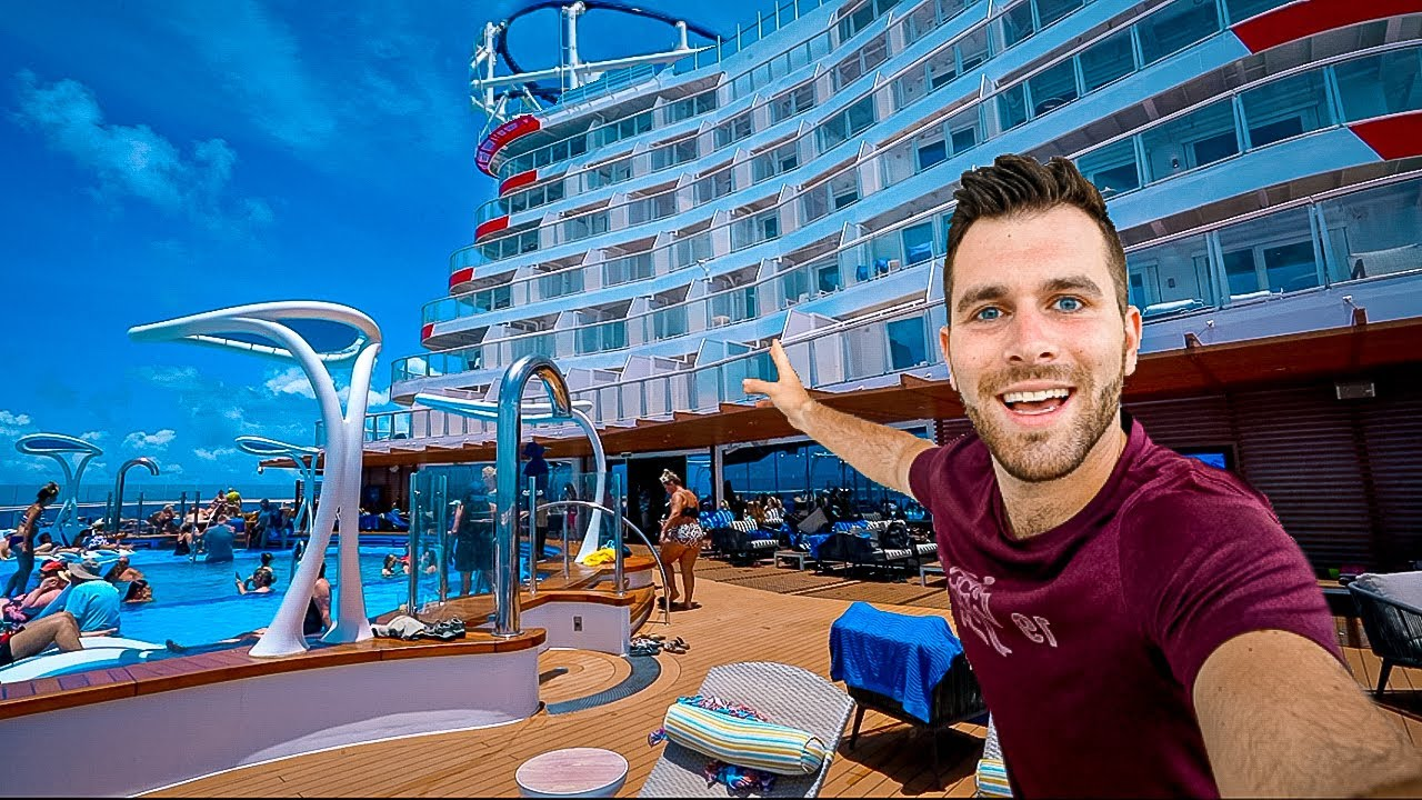 A FULL Tour Of Carnival's BRAND NEW Ship Mardi Gras   The Bars, Restaurants, Entertainment AND ROOM