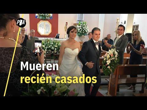 Recién casados mueren en choque